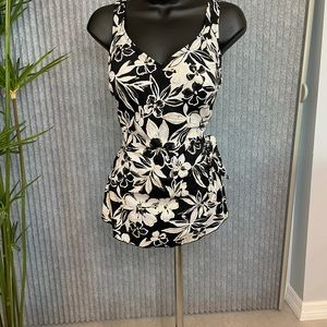 Roxanne Floral Sarong-Style Swimsuit